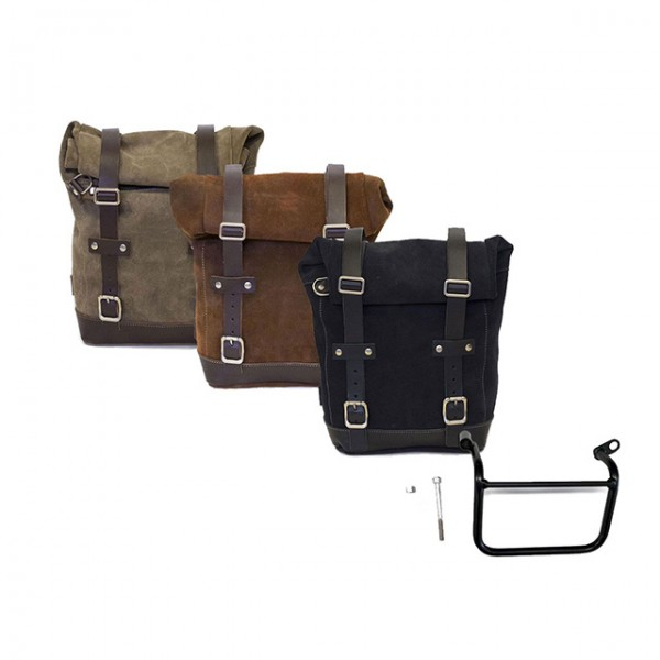 UNITGARAGE Side Pannier suede and subframe left for Triumph Scrambler 1200XC and XE