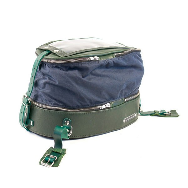 """WEITGEHEND GAR - """"Tank Bag"""" - bottle green & blue"""