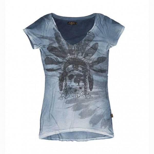 """RUDE RIDERS Damen T-Shirt - """"Indian SO. CAL."""" - türkis"""