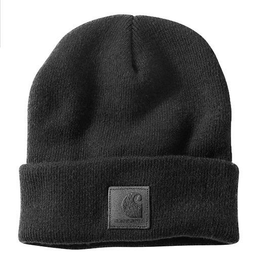 """CARHARTT Beanie - """"Black Label Watch Hat"""" - Black"""