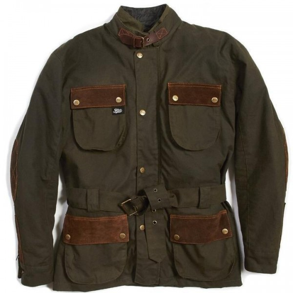 """FUEL Jacket - """"Discovery"""" - green & brown"""
