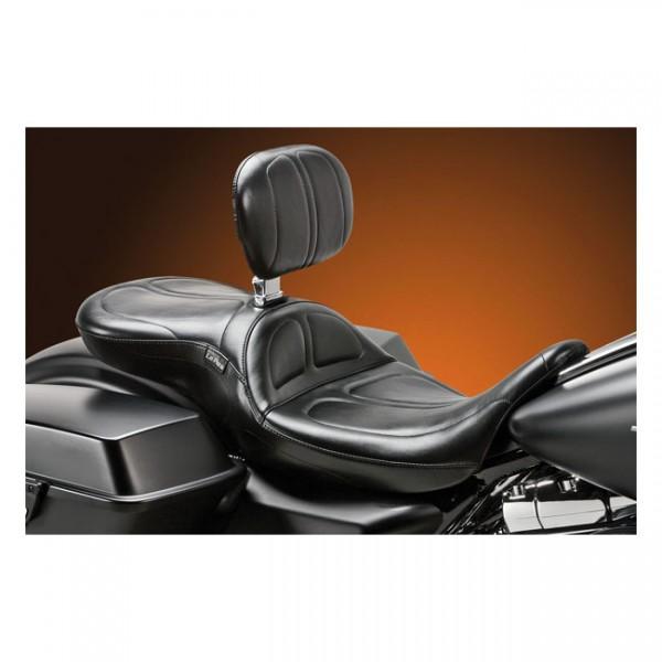 "LEPERA Seat - ""LePera, Bare Bones solo seat. Smooth"" - 11-13 Softail FXS Blackline; 12-17 Softail FLS/S Slim (NU)"