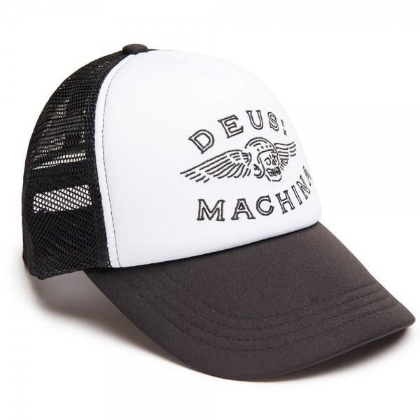 """DEUS EX MACHINA Cap - """"Curtis Trucker"""" - schwarz & weiß"""