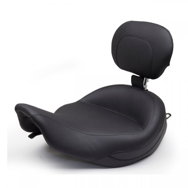 """MUSTANG Seat - """"Mustang, Super Touring solo seat, With rider backrest"""" - 97-07 FLHR; 06-07 FLHX (NU)"""