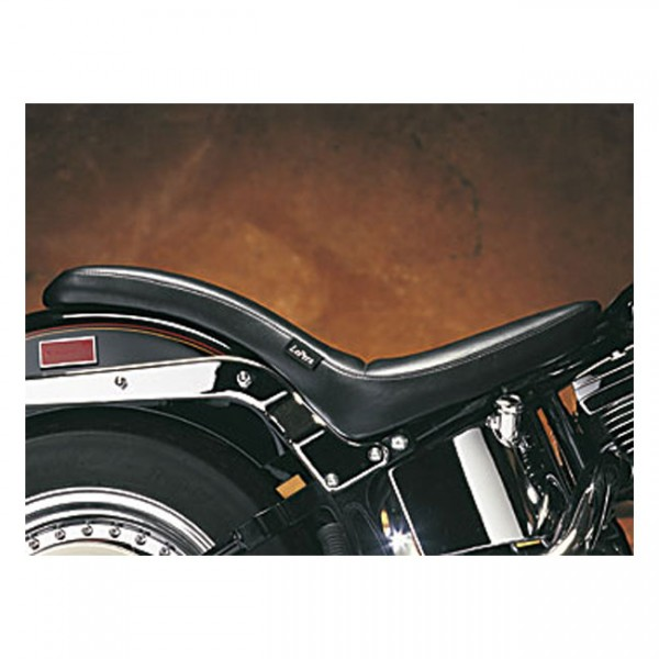 """LEPERA Sitz - """"Cobra 2-up seat. Smooth"""" - 00-17 Softail (excl. FXS, FLS/S) with up to 150mm rear tir"""
