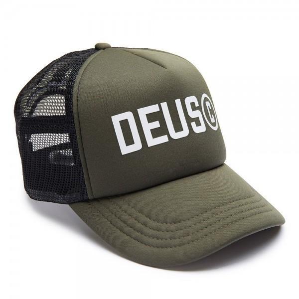 """DEUS EX MACHINA Cap - """"Cooper Trucker"""" - grün-grau"""