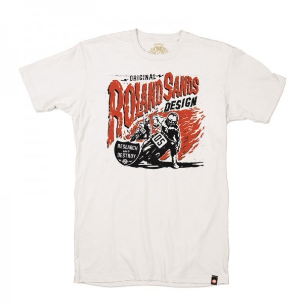"ROLAND SANDS T-Shirt - ""R & D"" - white"