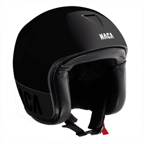NACA Open Face Helmet Riviera made from Carbon in black