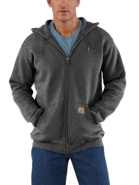"""CARHARTT Hoodie - """"Midweight Hooded Zip-Front Sweatshirt"""" - carbon heather"""