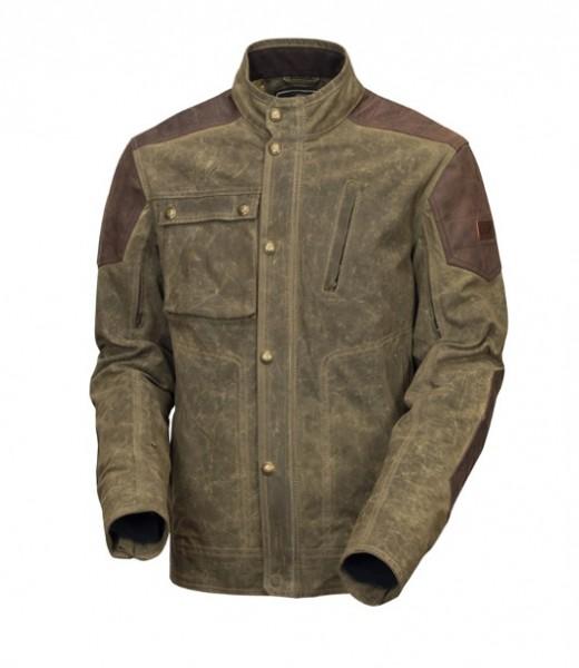 ROLAND SANDS DESIGN motorcycle jacket Truman in olive green (ranger)
