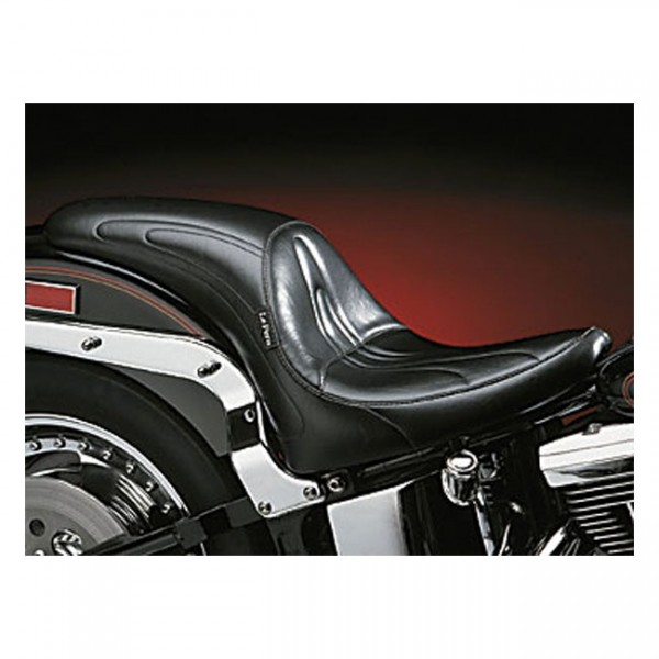 """LEPERA Seat - """"LePera, Sorrento Sport 2-up seat. Gel"""" - 00-17 Softail (excl. Deuce, FXS, FLS/S) with up to 150mm tire (NU)"""