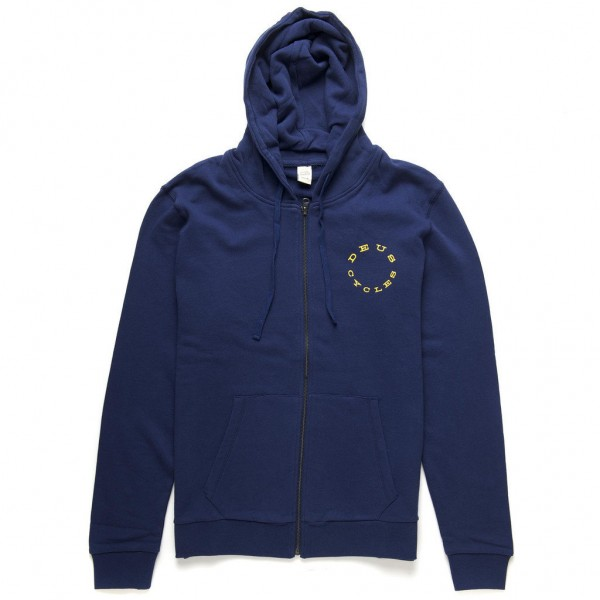 "DEUS EX MACHINA Men's Hoodie - ""Shock of Gold"" - blue"