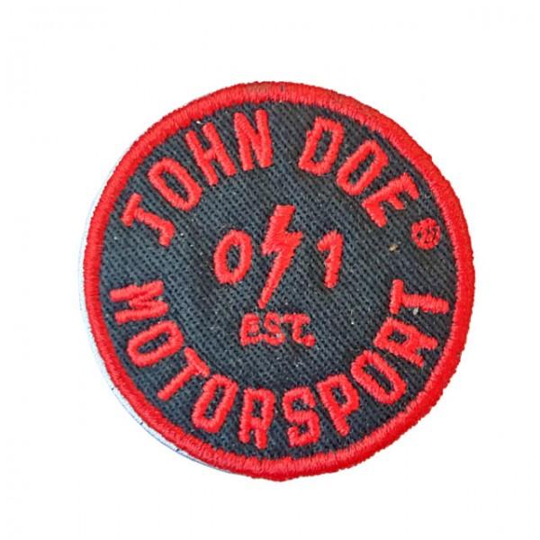 JOHN DOE Aufnäher Est. 01 in Schwarz und Rot