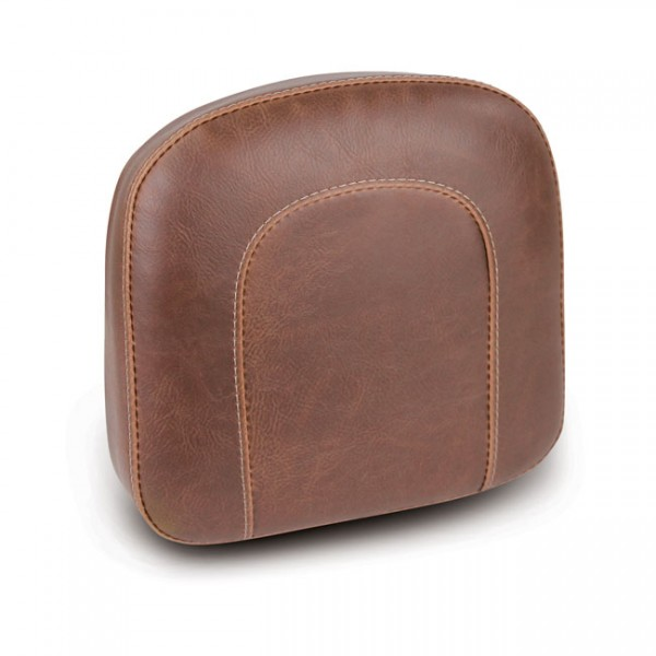 """MUSTANG Seat - """"Mustang, OEM style sissy bar pad. Brown"""" - All H-D with stock/aftermarket sissy bars (excl. Touring and 18-20 Softail models)"""