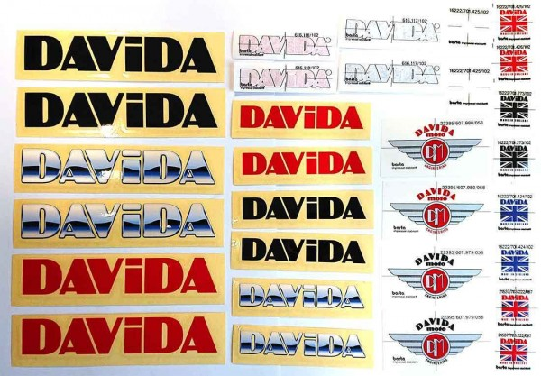 "DAVIDA Aufkleber - ""Sticker Pack"" - 30-teilig"