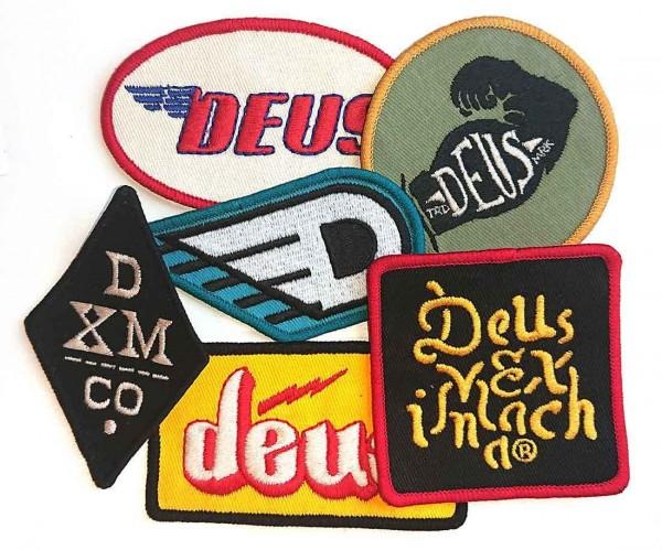 "DEUS EX MACHINA Aufnäher - ""Patch Pack Two"" - Set mit 6 Stück"