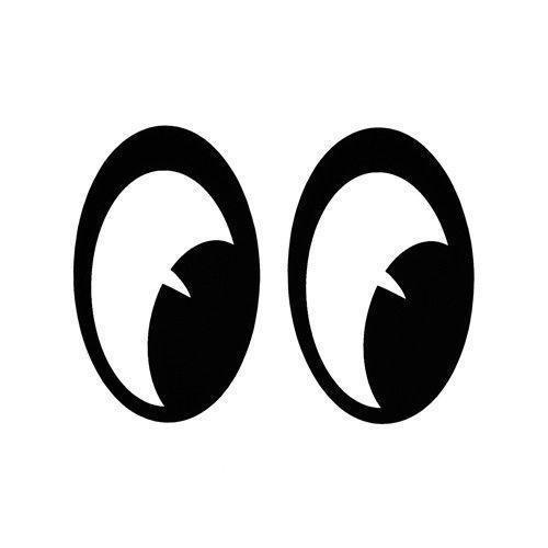 """MOONEYES Aufkleber - """"Moon Eyes"""" - 1 Paar"""