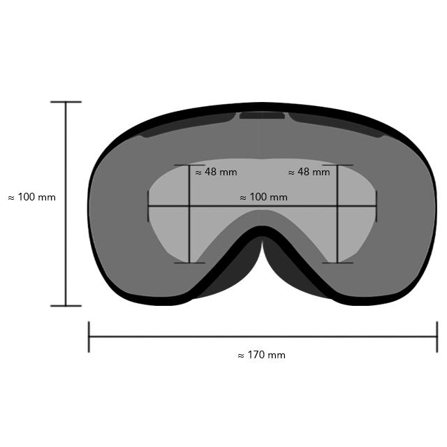 AGV Legends Goggles dimensions