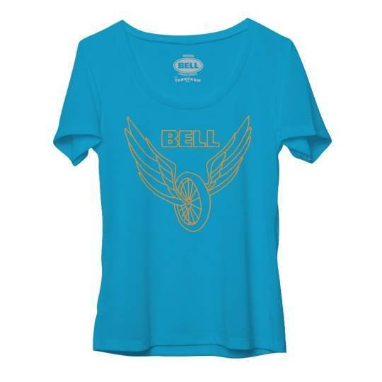 "BELL Women's T-Shirt - ""Wing & Wheel"" - blue"