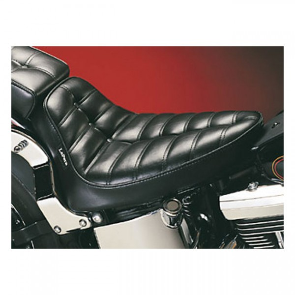 """LEPERA Seat - """"LePera, Cobra solo seat. Pleated"""" - 00-07 Softail (excl. Deuce) with upto 150mm tire (fender mounted)"""