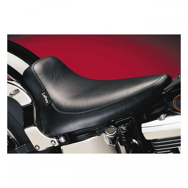 """LEPERA Seat - """"LePera, Silhouette solo seat. Smooth. Gel"""" - 00-07 Softail (excl. FXSTD Deuce). Frame mounted with upto 150mm tire"""