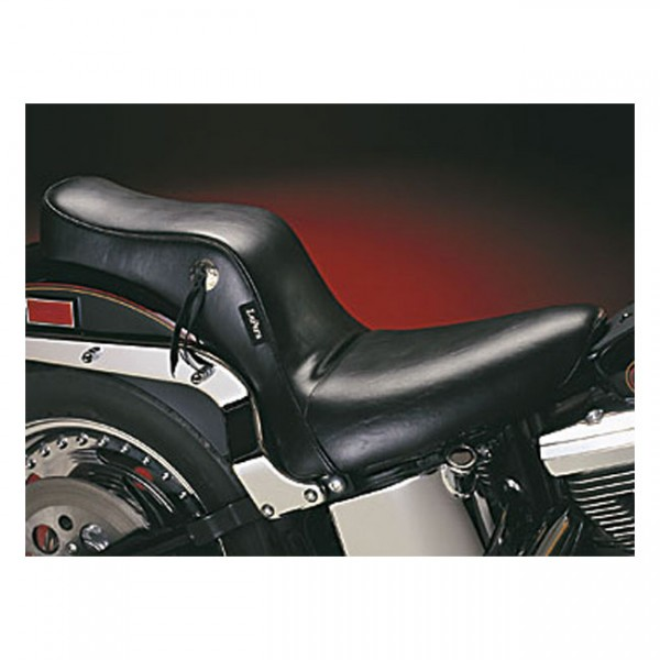 """LEPERA Seat - """"LePera, Cherokee 2-up seat. Smooth. Gel"""" - 00-17 Softail (excl. FXS, FLS/S) with up to 150mm rear tire (NU)"""