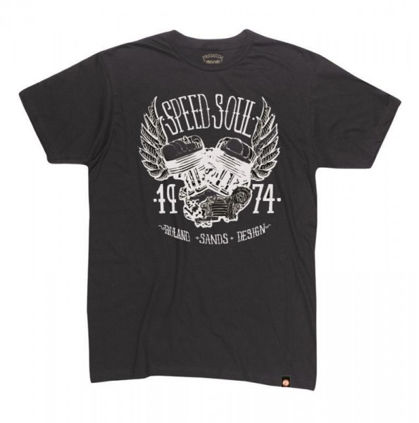 """ROLAND SANDS T-Shirt - """"Speed Soul"""" - schwarz"""