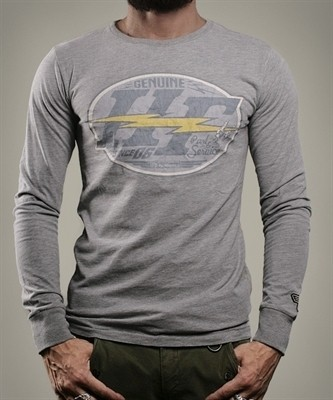 "HOLY FREEDOM Men's Longsleeve - ""HF Grey"" - grey"