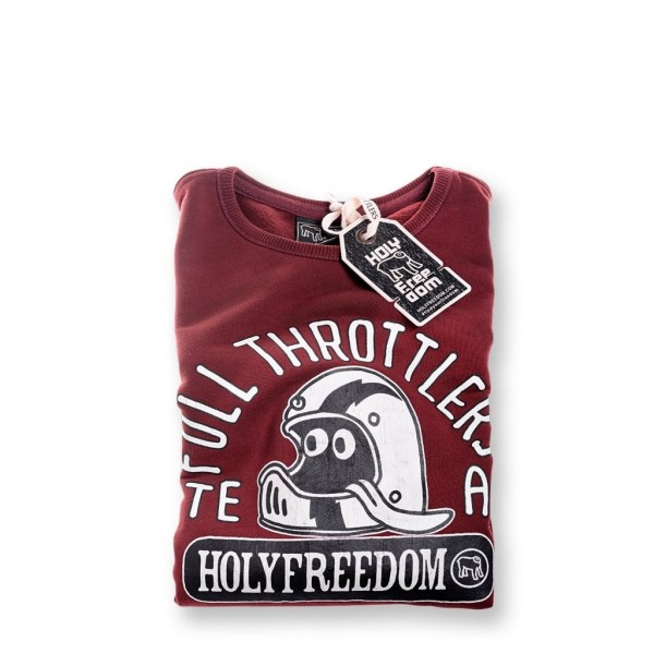 """HOLY FREEDOM Sweater - """"Full Face"""" - bordeaux"""