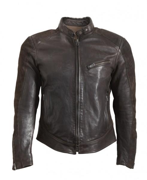 """ROKKER Jacket - """"Cafe Racer Leather Jacket"""" - brown"""
