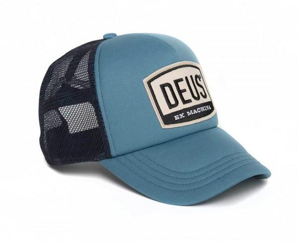 """DEUS EX MACHINA Hat - """"Moretown Trucker"""" - blue"""
