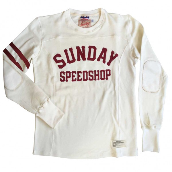 "SUNDAY SPEEDSHOP Sweatshirt - ""Sunday & Sons Stadium"" - beige"