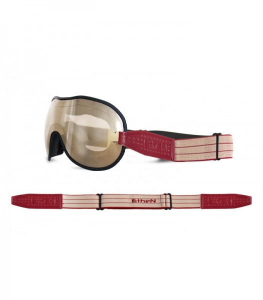 """ETHEN Goggles - """"Cafe Racer CR0103"""" - light brown mirrored"""