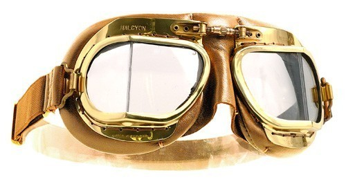 "HALCYON Goggles - ""Mark 49 Compact Antique"" - tan/beige"