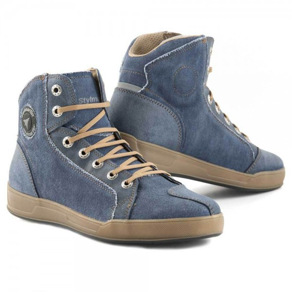 "STYLMARTIN Motorcycle Sneakers - ""Melbourne"" - denim blue"