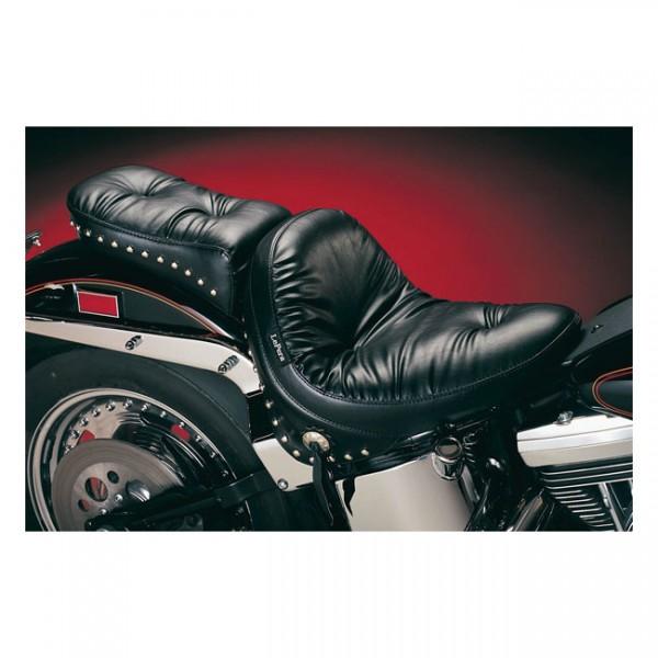 "LEPERA Sitz - ""Monterey solo seat. Regal Plush with skirt"" - 84-99 Softail (NU)"