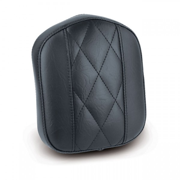 """MUSTANG Seat - """"Mustang, OEM style sissy bar pad. Black. Diamond"""" - All H-D with stock/aftermarket sissy bars (excl. Touring and 18-20 Softail models)"""