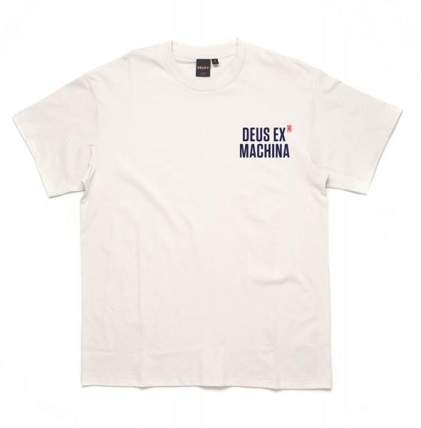 DEUS EX MACHINA T-Shirt Panorama Tee in Vintage Weiß