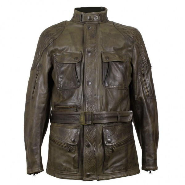 """MATCHLESS PM Jacket - """"Streetfarer Evolution"""" - antique black & green"""