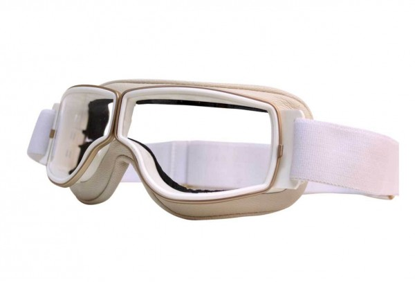 AVIATOR Goggles T2 white gold clear