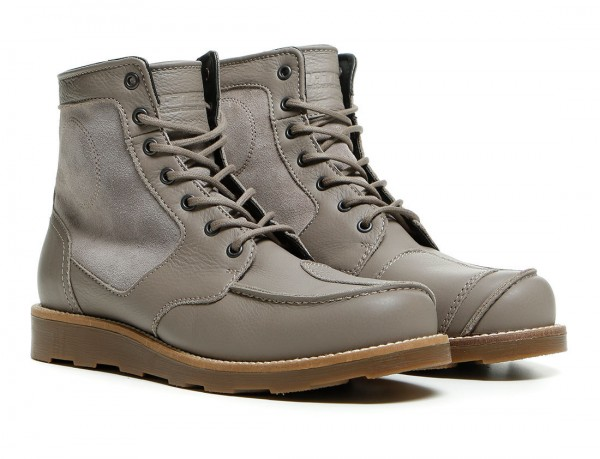 """DAINESE 72 Motorcycle Boots - """"Tan-Tan"""" - feather gray"""