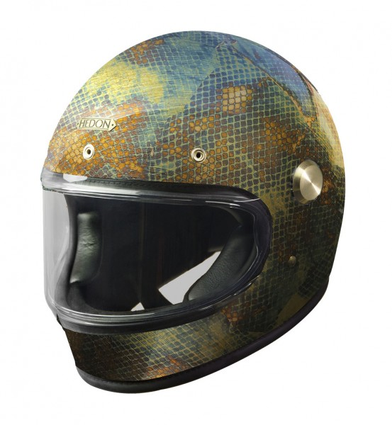 HEDON Heroine Racer Metallic Python Motorcycle Helmet