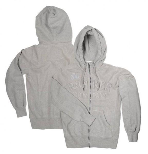 """ROKKER Hoodie - """"TRC Zipper Grey"""" - grau"""
