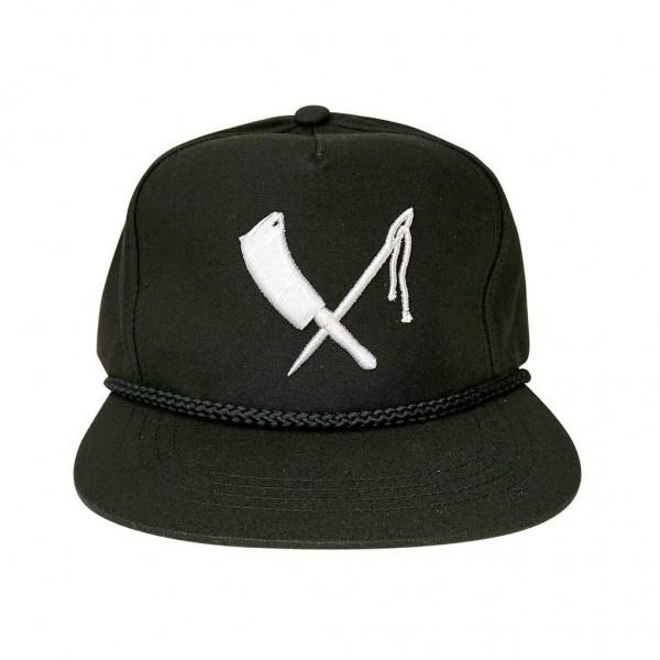 "RUSTY BUTCHER Hat - ""Logo"" - black"