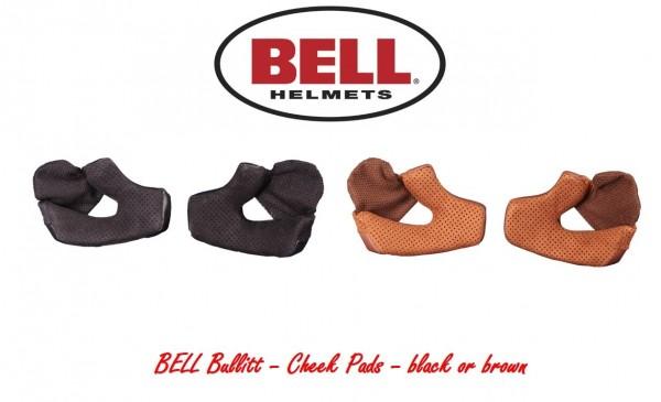 """BELL Bullitt - """"Cheek Pads"""" - brown or black"""