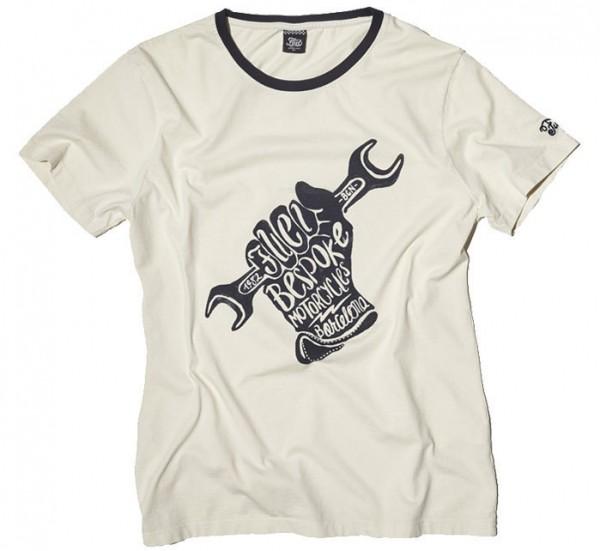 """FUEL T-Shirt - """"T-Glove Raw"""" - vintage white"""