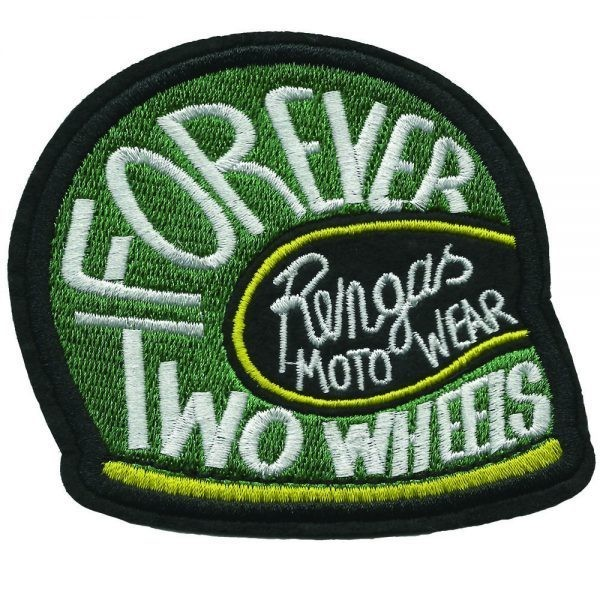 """RENGAS Patch - """"Forever Two Wheels"""" - green"""
