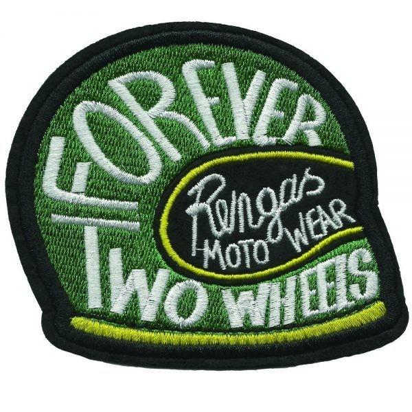 "RENGAS Aufnäher - ""Forever Two Wheels"" - grün"