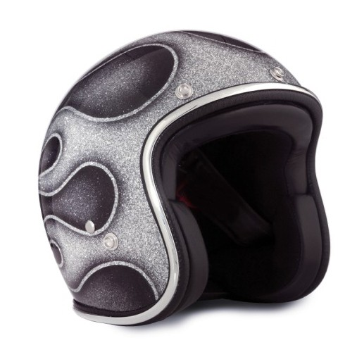 SEVENTIES Superflakes Flames 2014 Open Face Helmet