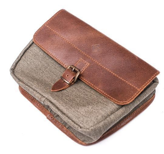 "CRAVE FOR RIDE - ""Mini Moto Bag"" - olive & brown"